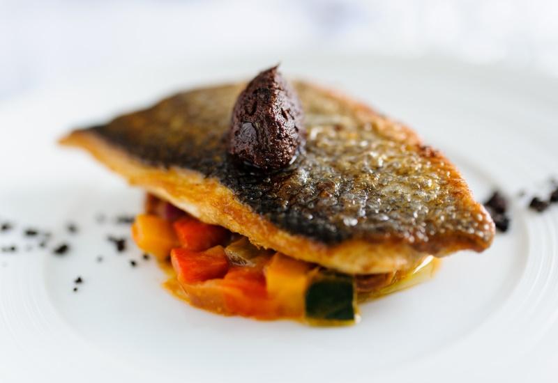 Pan seared sea bream and ratatouille