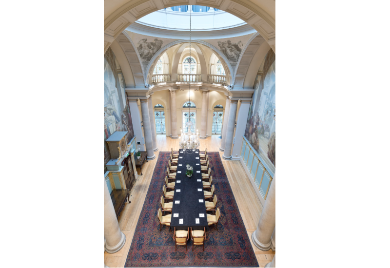 One Moorgate Place Main Reception room set up for a meeting