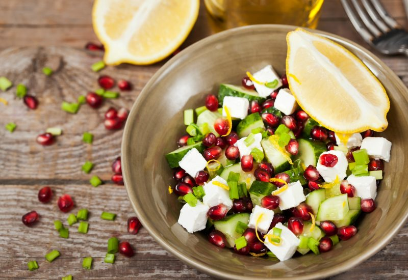 feta & pomegranate salad