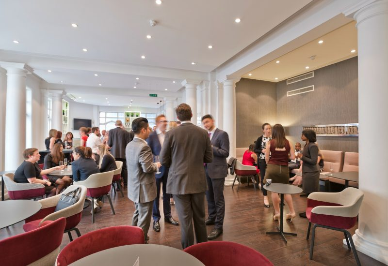 Drinks reception in the business centre