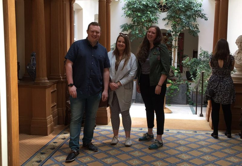 Hannah, Patrick and Katie in Vintners' Hall