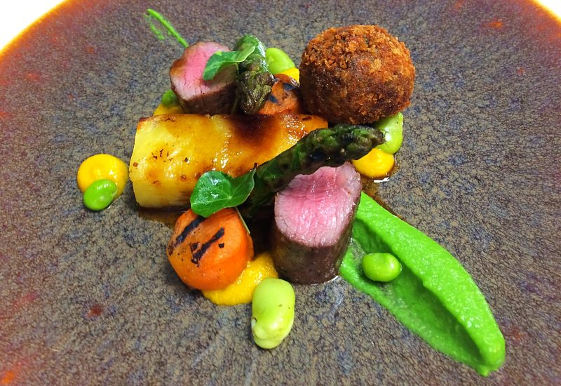Summer lamb, chard, Wye valley asparagus & carrot
